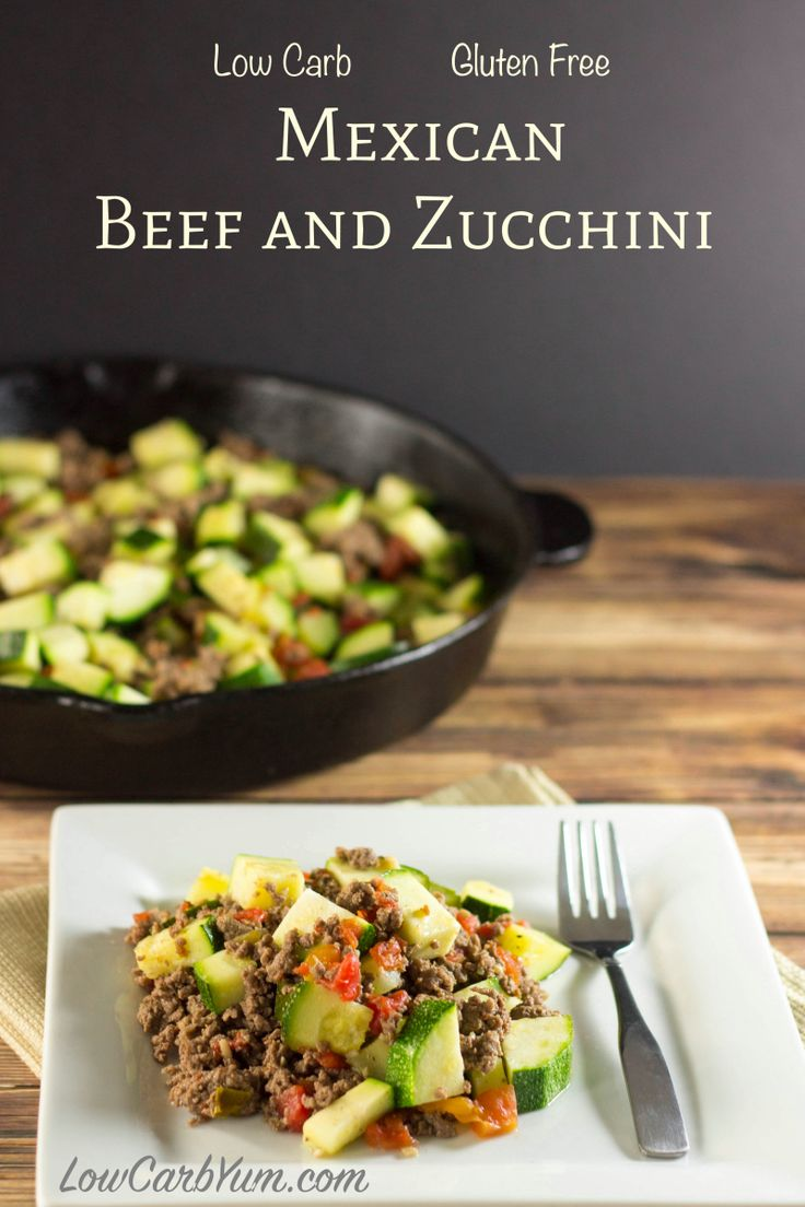 Mexican Beef and Zucchini Shared on https://www.facebook.com/LowCarbZen | #LowCarb #Beef #Zucchini