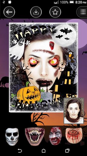"""""""Halloween Montage Photo Editor"""" is the scariest app for mobile. Halloween is around the corner!Ready to be scared? Ready for freaky time? You will need some great Halloween costumes and amazing decorations for your pics! Download """"halloween photo Editor"""""""