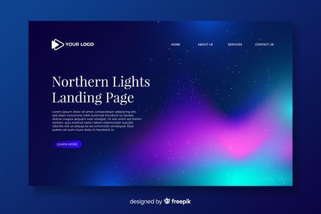 Lade Nordlicht Landingpage Vorlage Kostenlos Herunter In 2020 Landing Page Northern Lights Templates