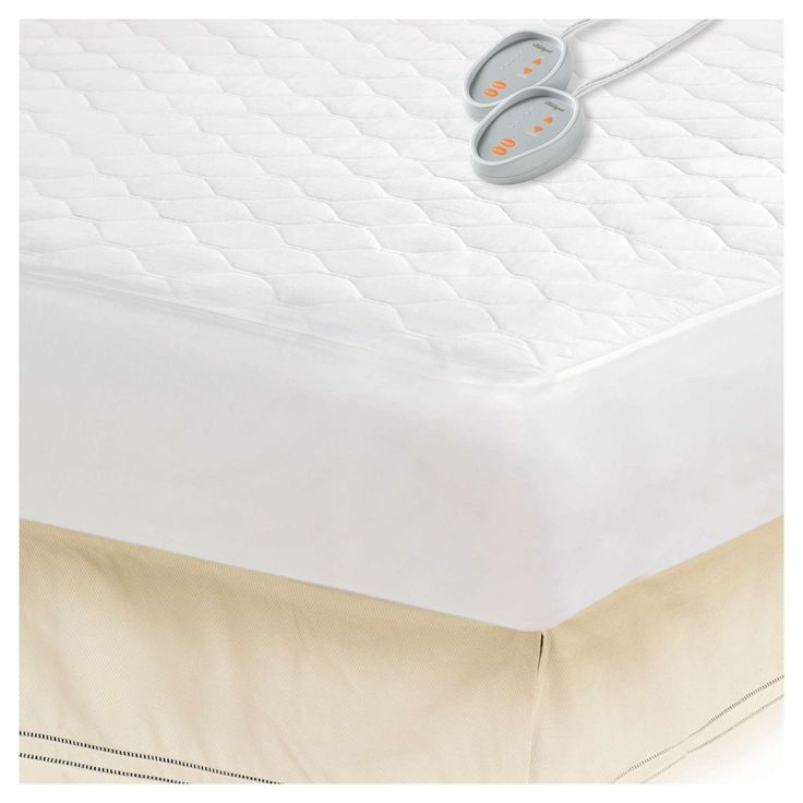 Cotton Blend Heated Mattress Pad (Cal King) White