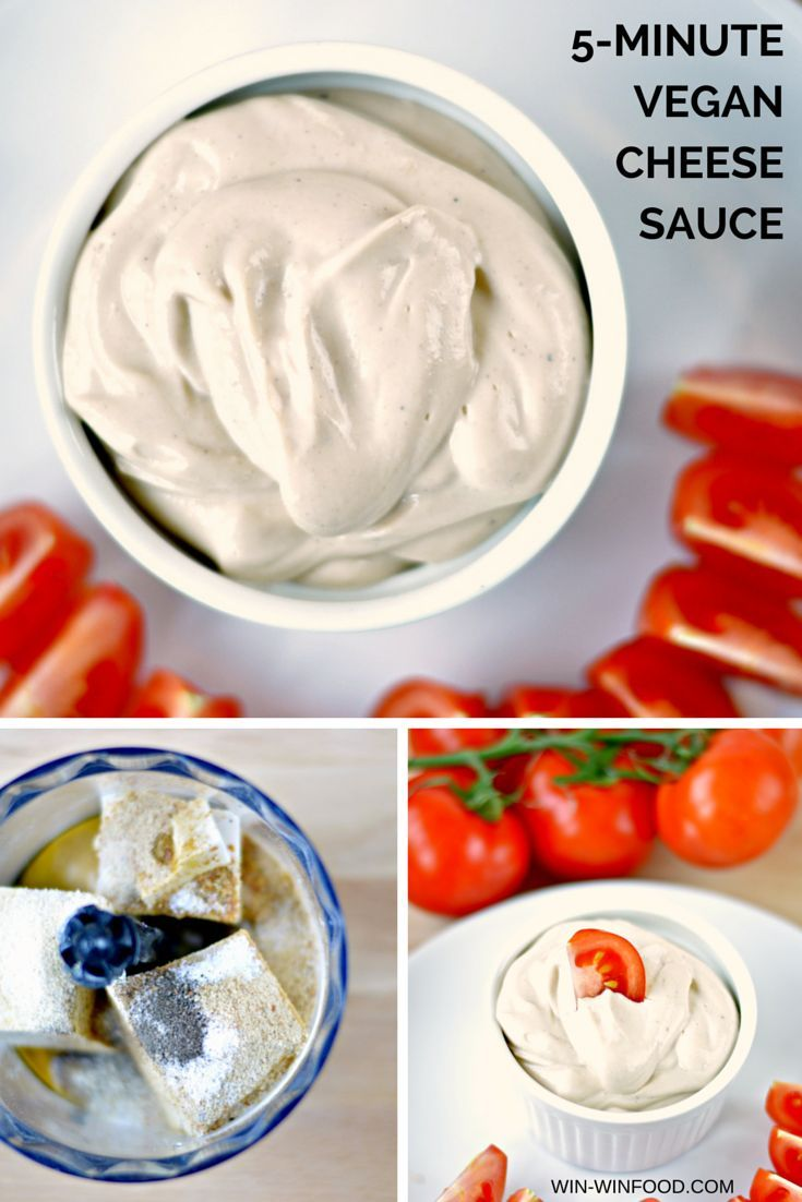 5-Minute Vegan Cheese Sauce - Unbelievably smooth, cheesy and comforting. You can use it as a dip or a pasta sauce.
