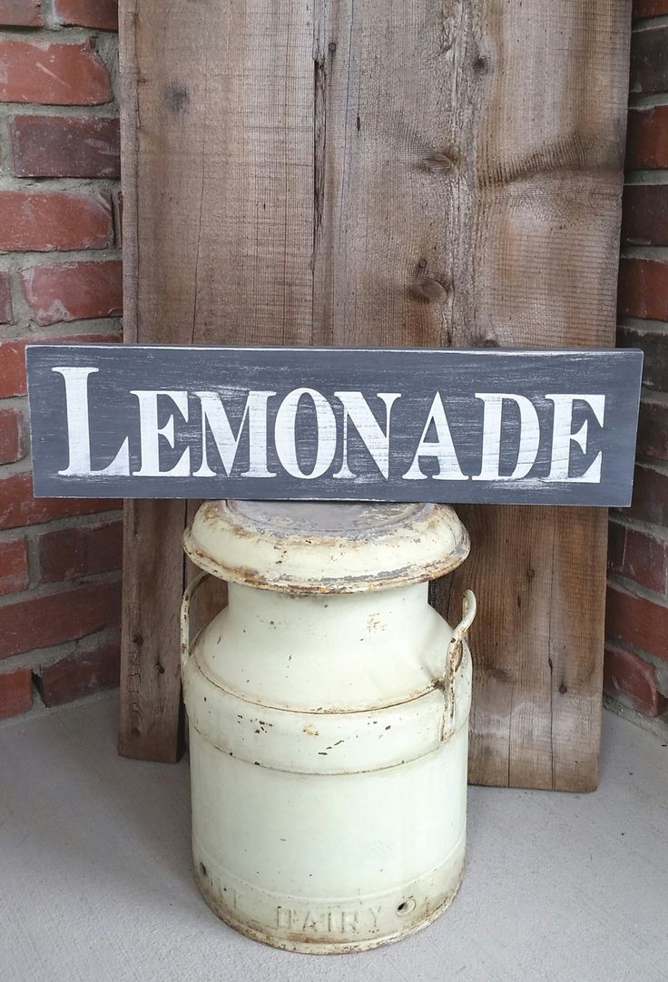 17 best ideas about lemonade stand sign on pinterest for Rustic lemonade stand