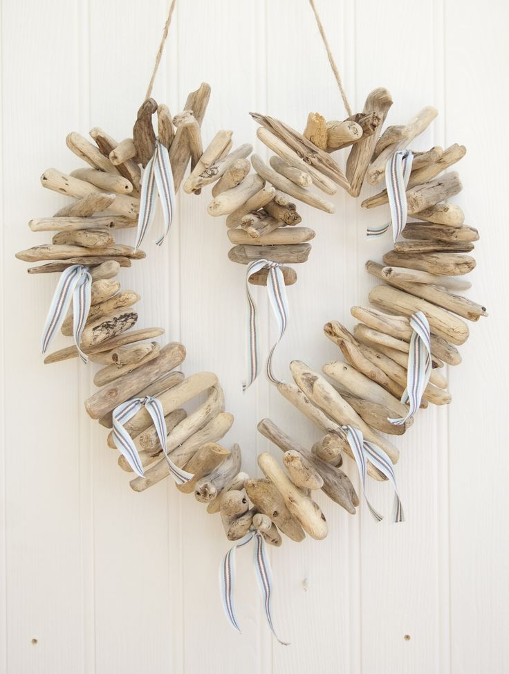 Driftwood Hanging Heart Garland by Driftwood Dreaming