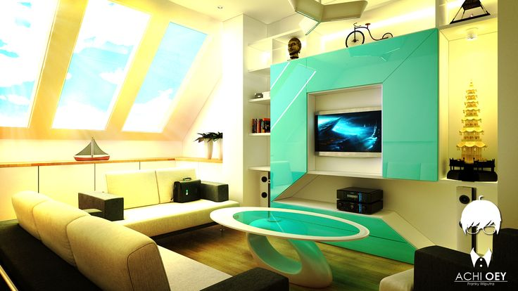 Futuristic Living Room