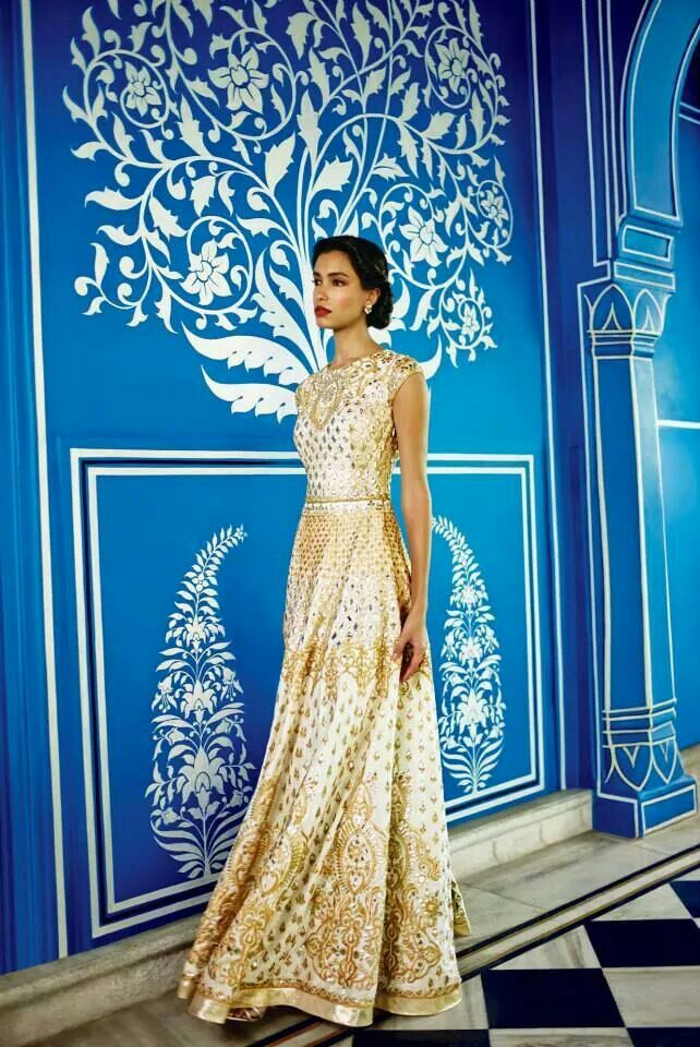 Gorgeous, #Regal Floor-Length #Anarkali <3