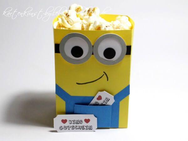 Minions   Popcon   Tüte Mit Kino Gutscheinen