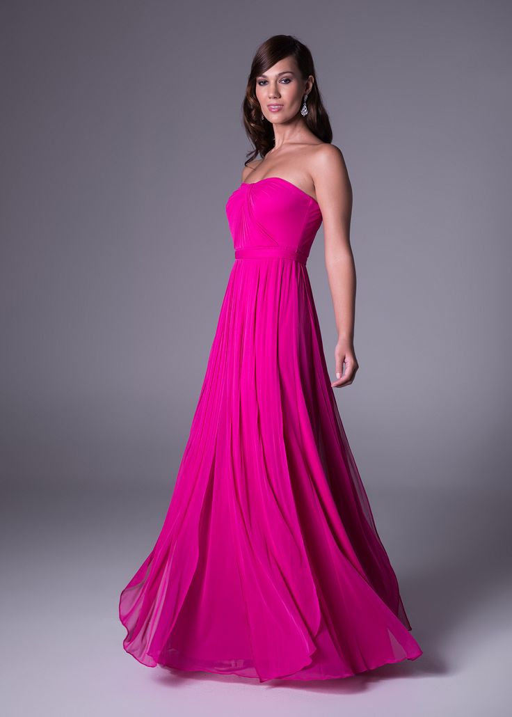 Rouged empire line bridesmaid's dress.<b>To order only</b>