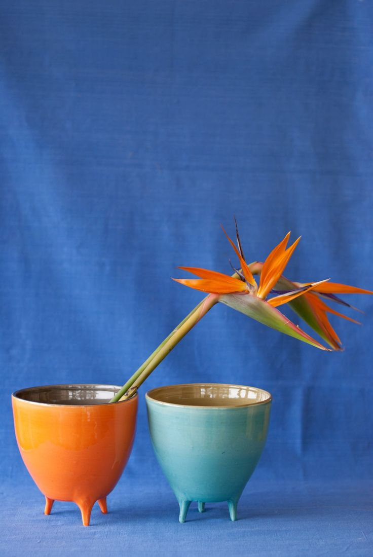 POTLEGS by CaCo handmade in Portugal, Galerias Lumiere Rua José Falcão Porto Portugal, Shop online www.cacostore.com #pottery #handmade #blue #orange