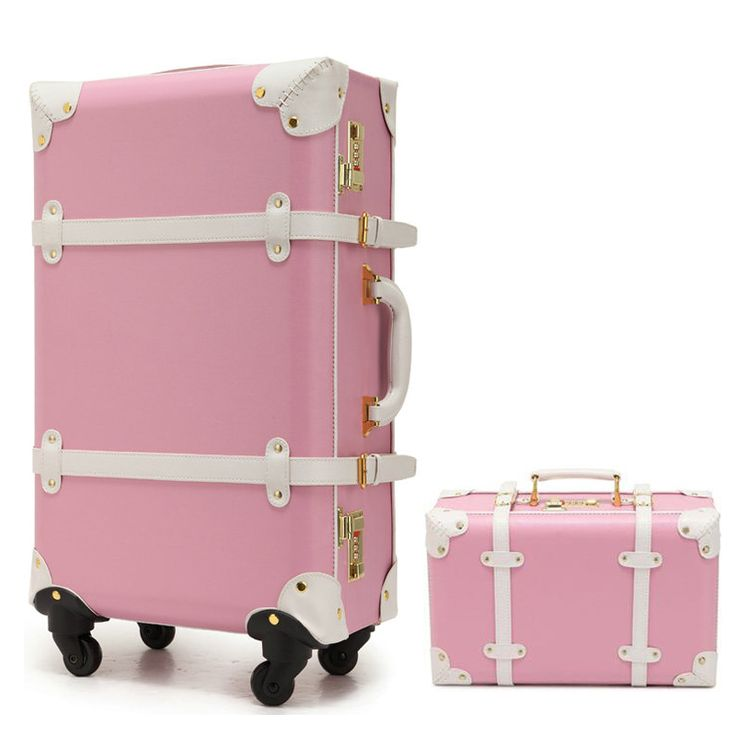 "New Women Vintage Luggage Sets PU Leather Travel Suitcase,Universal Wheels Trolley Luggage Bag 22"" 24"" Rolling Luggage"