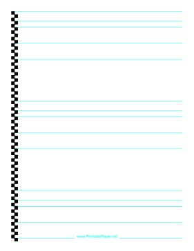 Printable Calligraphy Paper - in fine, medium, and thick sizes to fit the sizes of your nibs