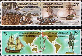 Postage Stamps Norfolk Island 1977 Captain Cook Set Fine Mint SG 179/95 Scott 201/17 Other Norfolk Island Stamps HERE