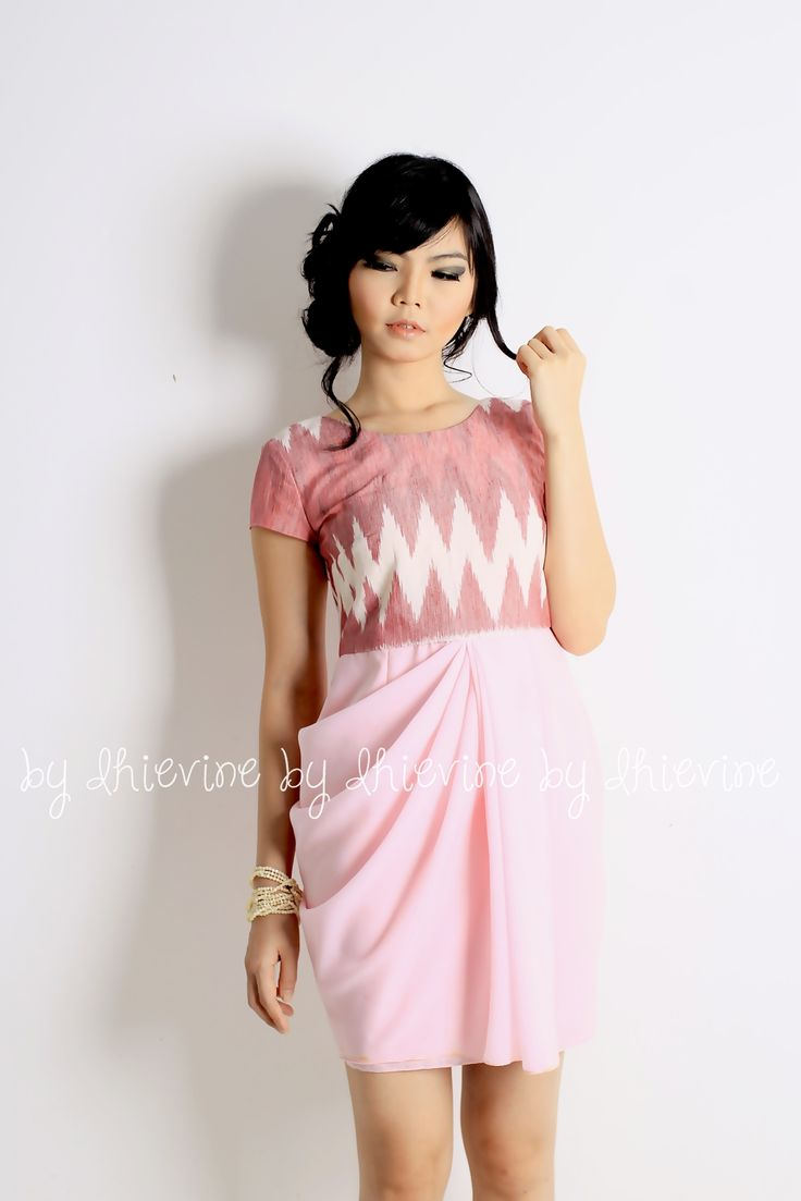 Drapery dress | ikat dress | Menur Rang-Rang Pink Dress | DhieVine | Redefine You