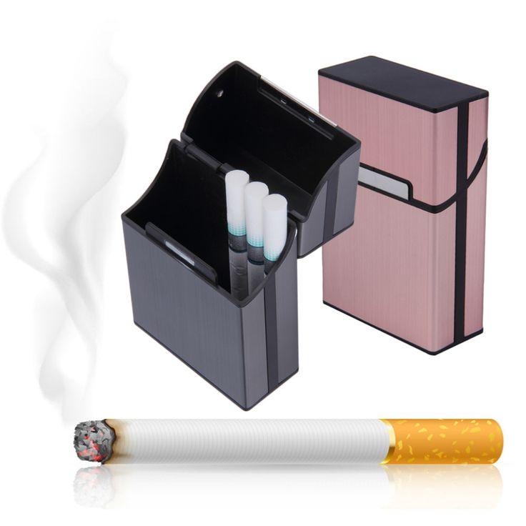 1 unids Luz De Aluminio Tabaco Cigarros Cigarrillos Caso Titular de Bolsillo Caja de Almacenamiento de Contenedores