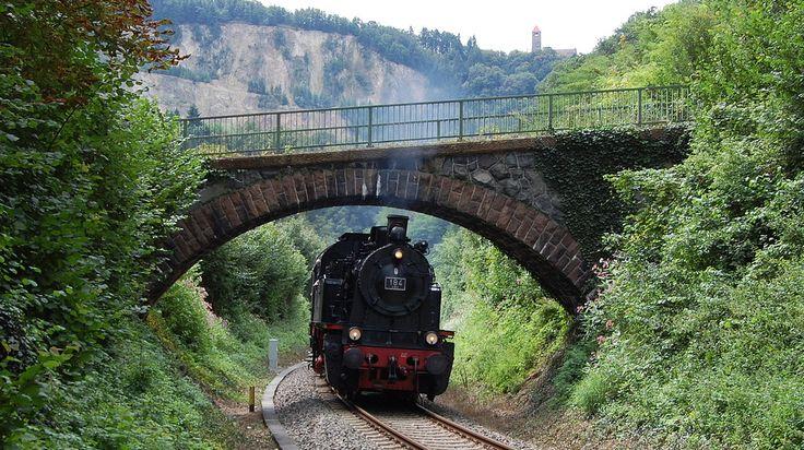 Dampfzug auf der Weschnitztalbahn nahe Weinheim 10.8.2014 von Krebsbachtalbahner