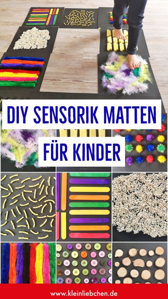 DIY sensory mats for children – sensory perception with the feet