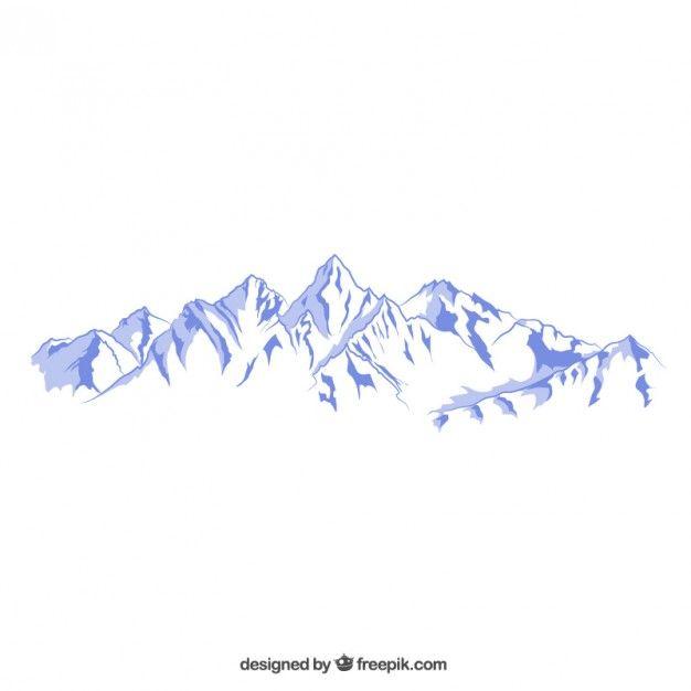 Montañas nevadas ilustración