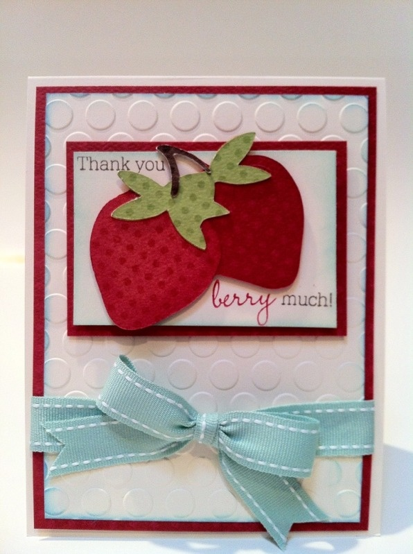 #Cricut #card using Preserves cartridge, cuttlebug  #embossing, #BoBunny double-dot paperIphone App, Cricut Preserves, Cards Ideas, Cricut Cards, Crafts Cards, Cricut Cartridge, Strawberries Cards, Preserves Cartridge, Paper Crafts
