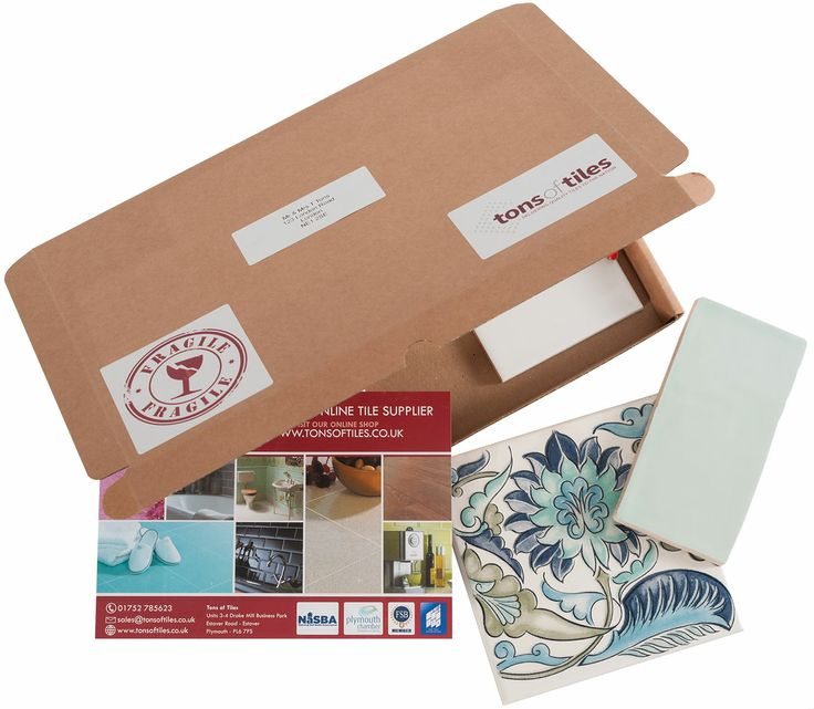 Order some of our beautiful sample tiles from the comfort of your own home...Samples are sent 1st Class Royal Mail with FREE P&P...