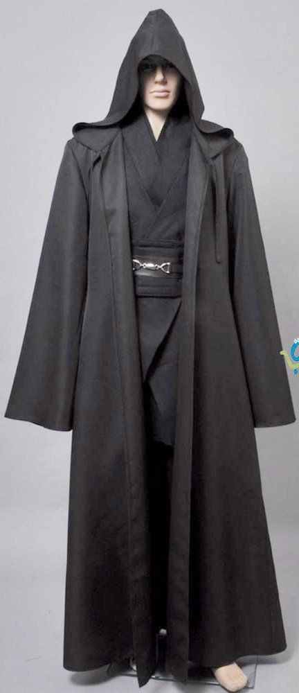 Jedi Knight Hooded Cloak Robe Cosplay Costume for Adult Men Special Use: Costumes Gender: Men Components: Top,Pants,Cloak,Other - 14 Day Hassle Free return policy - Allow 2-4 weeks for delivery - Safe