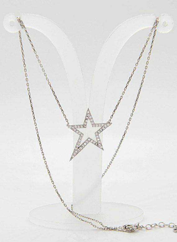White Star White Cubic Zirconia Necklace Sirius by TheJewellander