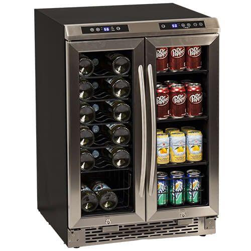 "24"" Built-In French Door Wine and Beverage Cooler Video Image"