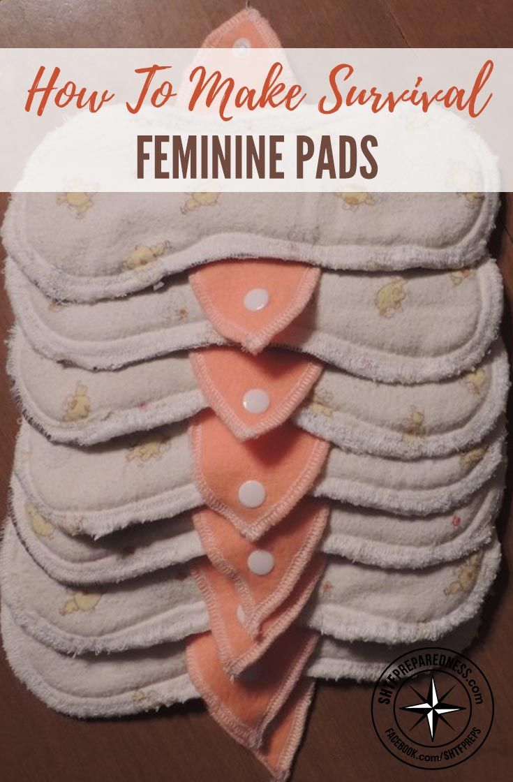 How To Make Survival Feminine Pads — Disposable feminine products may be convenient, but what would you do in the event that SHTF or you simply couldn't buy them? Learning to make your own is not only an exercise in self-sufficiency, it's frugal and far less wasteful than the disposable products.