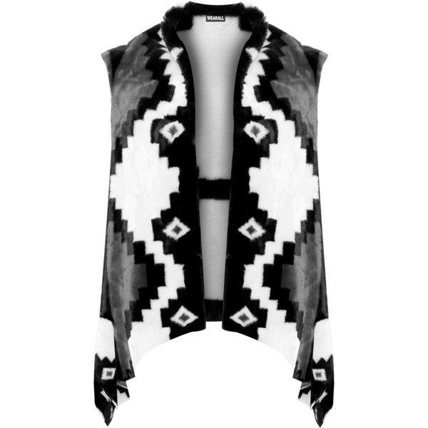 Masie Faux Fur Aztec Gillet (115 BGN) ❤ liked on Polyvore featuring plus size women's fashion, plus size clothing, plus size outerwear, plus size vests, grey, fake fur vest, grey waistcoat, aztec print vest, sleeveless vest and faux fur vest