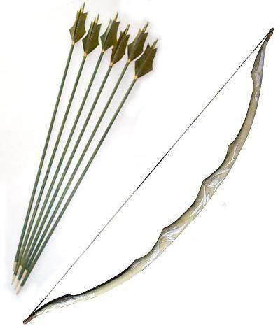 ik heb gekozen voor een pijl en boog omdat dat het moordwapen is van Katniss. Ze heet het nodig om haar tegenstanders te doden en om op wild te jage.