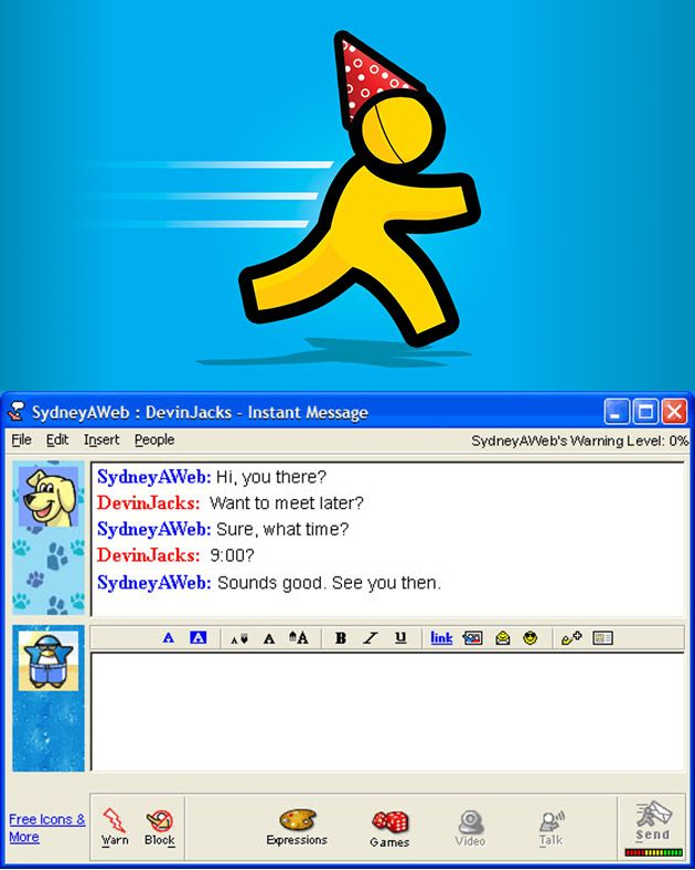 free aol /instant messenger/
