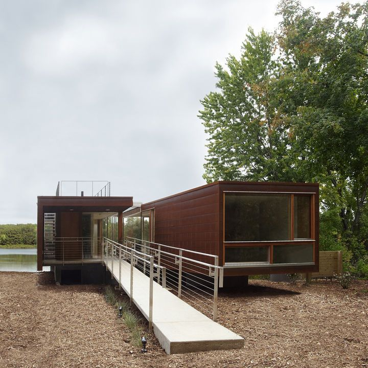 Architect Jim Garrison Of Brooklyn Based Garrison Architects Was Asked To  Design A Lakeside Retreat For Visiting Families At A Boarding Schoolu2026