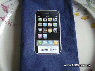 Bordkort til konfirmation – mobiltelefontema