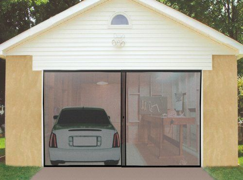 instant double garage door screen turns any garage into a comfortable workshop or screened living space