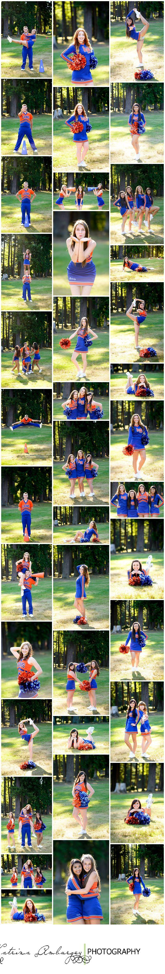 Some great pose ideas for cheer photos- single and group.