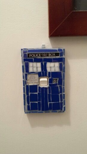 34 best images about mosaic light switch covers on pinterest for Tardis light switch cover
