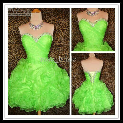 Neon green dress!