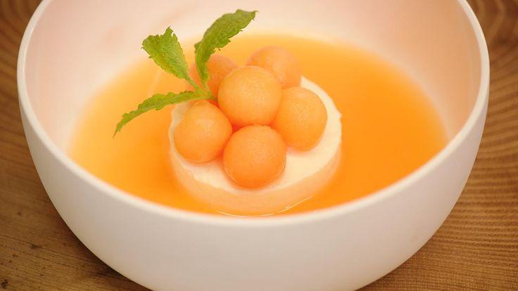 Soepje van cavaillon met parfait van citroen