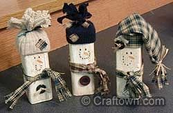 Wood Scrap Snowmen Christmas crafts