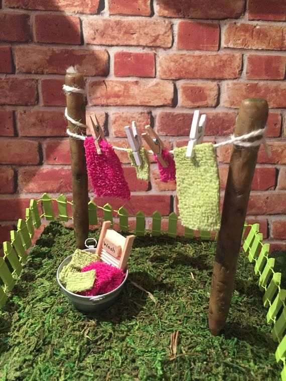 Fairy Garden Clothesline Fairy Garden Laundry Tub Mini Etsy In 2020 Fairy Garden Diy Fairy Garden Furniture Fairy Garden Crafts
