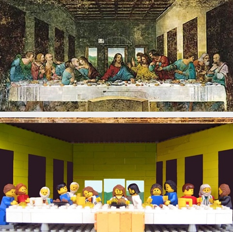 The Last Supper. With #Lego, #brick is #Art!