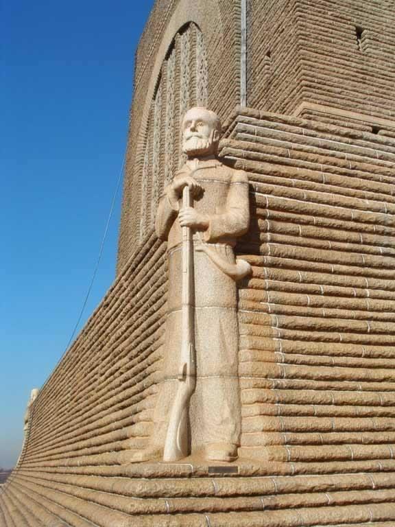 Statue of Piet Reteif at the Voortrekker Monument in Pretoria.