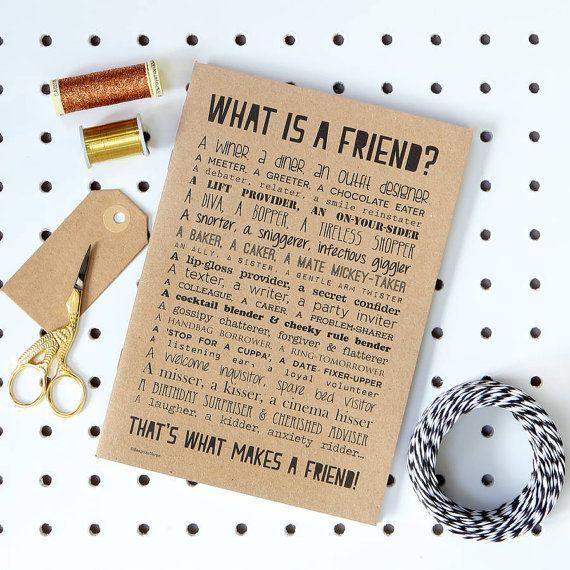 Friend Poem Slim Notebook Best Friend Present by bespokeverse