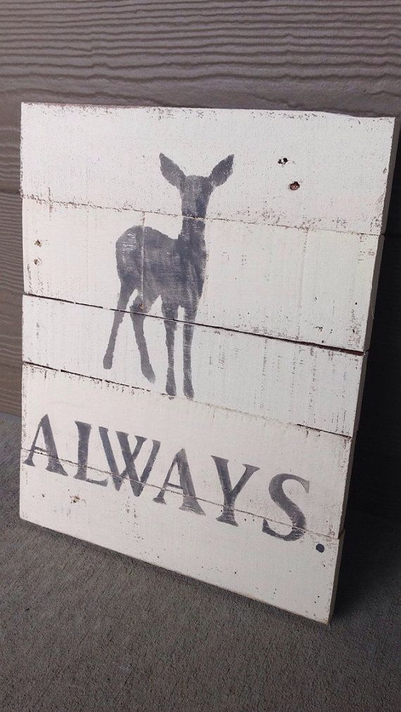 Reclaimed Wood Harry Potter Always Doe Patronus by RecycledChicMT