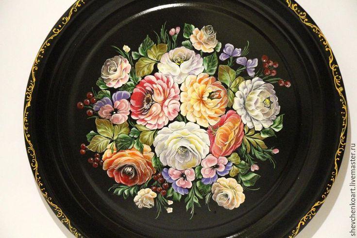 Рисуем цветы в технике жостовской росписи - Ярмарка Мастеров - ручная работа, handmade