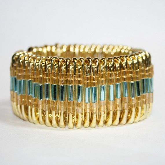 Glitz  Safety Pin Bracelet by MysticLily on Etsy