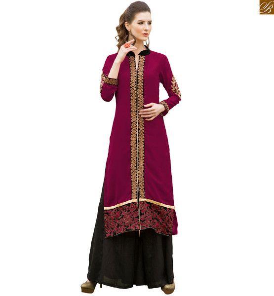 Pakistani Long Kurtis With Palazzo Pant Fashion Style