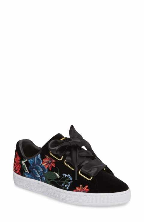 wholesale dealer 88507 e43a8 PUMA Basket Heart Hyper Embroidered Sneaker (Women) | shoezz ...