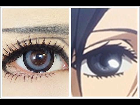 Tutorial : Anime Eye Makeup 47 • Mikasa Ackerman - YouTube