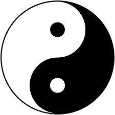 Ying&Yang staat symbool voor: tegenovergestelde en kracht.