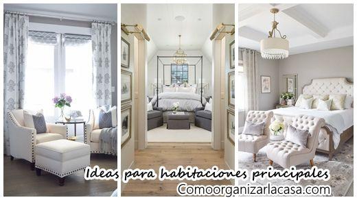 Impresionante decoración de habitaciones principales   Decoracion de interiores Fachadas para casas como Organizar la casa