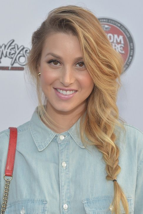 Quick ponytail upgrade: A laid-back braid, a la Whitney Port
